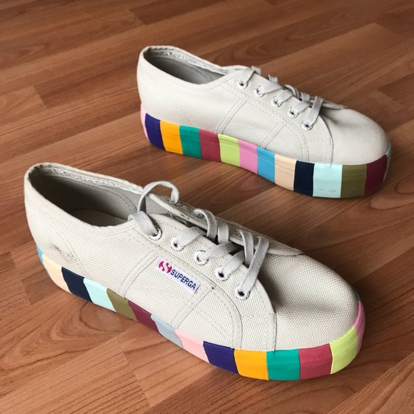 b474ae5aec1a Rainbow platform superga sneaker. M 5be9b8b5de6f6214da07b0fb. Other Shoes  ...